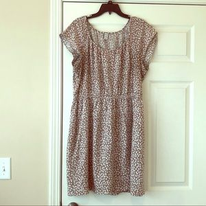 Old Navy Light Brown and White Speckled Dress